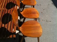 Norman CHERNER 4 chaises de table